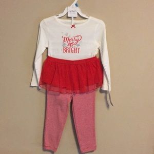 Carters 2T girl Christmas tutu outfit